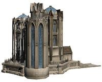 Fantasy Castle. 3D rendered fantasy castle on white background isolated Stock Photography