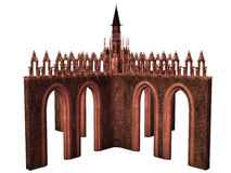 Fantasy castle. 3D rendered fantasy castle on white background isolated Royalty Free Stock Photos