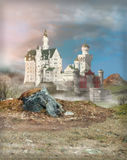 Fantasy Castle at Dawn Royalty Free Stock Photo