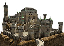 Fantasy castle on a hill Royalty Free Stock Photography