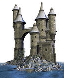 Fantasy castle on an island Stock Image