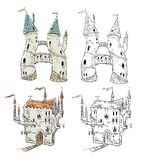 Fantasy castles  illustration Stock Photography