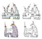 Fantasy castles  illustration Stock Image
