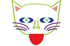 Fantasy cat Royalty Free Stock Image