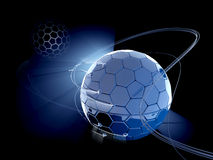 Fantasy cells globe simbolised the Earth. High technology 3d illustration Stock Photo