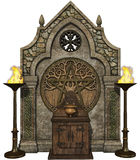 Fantasy Celtic altar Stock Photography