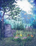Fantasy cemetery Royalty Free Stock Photography