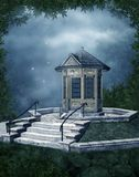 Fantasy chapel at night Stock Image