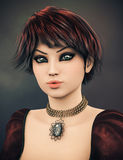 Fantasy character with choker, 3D,CG Stock Photography