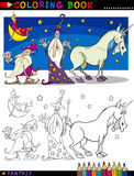 Fantasy Characters for coloring Royalty Free Stock Images