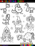 Fantasy Characters for coloring book Stock Image
