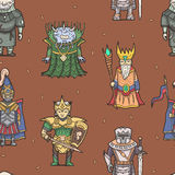 Fantasy characters seamless pattern Stock Images