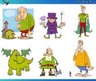 Fantasy characters set. Cartoon Illustrations of Fantasy or Fairy Tale Characters Set Stock Image