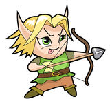Fantasy chibi boy character, elf. Stock Photos