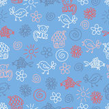 Fantasy childlike seamless pattern Royalty Free Stock Photos