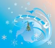 Fantasy Christmas deers Stock Images