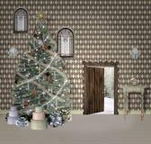 Fantasy christmas room Royalty Free Stock Photos