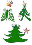 Fantasy christmas tree illustrations Stock Images