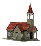 Fantasy church building. 3D render of a fantasy church building Royalty Free Stock Image