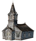 Fantasy church building. 3D render of a fantasy church building Royalty Free Stock Photos