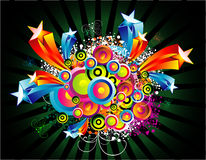 Fantasy Circles and Star Background Stock Image