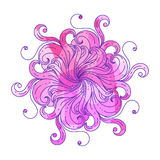 Fantasy circular pattern. Hand-drawing vector Stock Photo
