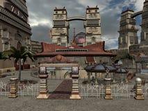 Fantasy City Royalty Free Stock Photo