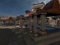 Fantasy City Royalty Free Stock Photography