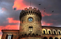 Fantasy clock tower Royalty Free Stock Photo