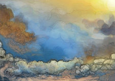 Fantasy cloud background Royalty Free Stock Image