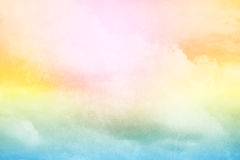 Fantasy cloud and sky with pastel gradient color Royalty Free Stock Photography