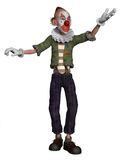 Fantasy clown dancing Stock Photo