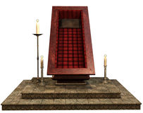 Fantasy coffin stand Royalty Free Stock Photos