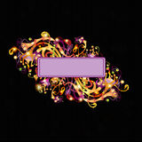Fantasy color bright black background space Royalty Free Stock Images