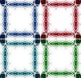 Fantasy colorful border frame Stock Photos