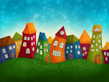 Fantasy colorful houses Stock Photo