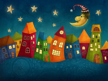 Fantasy colorful houses Royalty Free Stock Photos