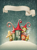 Fantasy colorful houses Royalty Free Stock Image