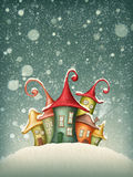Fantasy colorful houses stock illustration