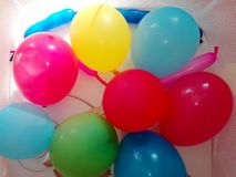 The colorful balloons for the children`s birthday party
