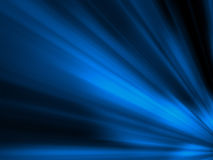 Fantasy computer generated blue lights. In black background Stock Image