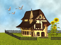 Fantasy cottage Royalty Free Stock Images