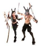 Fantasy couple Royalty Free Stock Photos