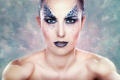 Fantasy creative make-up Royalty Free Stock Image