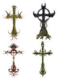 Fantasy crosses Royalty Free Stock Photography