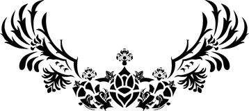 Fantasy crown with wings stencil Stock Photos