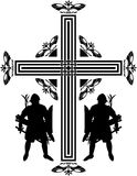 Fantasy crusaders cross Stock Image