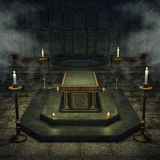 Fantasy crypt with candles Stock Photography