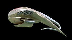 Fantasy 3D model of alien spacecraft design Stock Photo