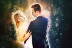 Fantasy dance couple Stock Photos